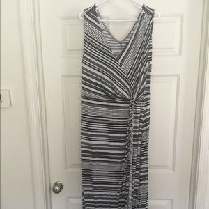Striped ankle length dress